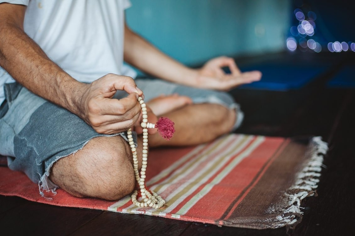Yoga mat katoen